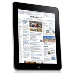 iPad Device with New York Times on screen