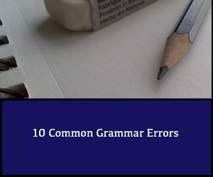 10 Common Grammar Errors
