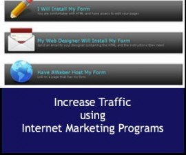 Increase Traffic using Internet Marketing Programs